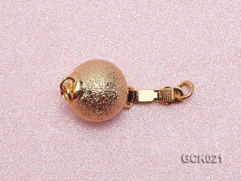 10mm Single-strand Frosted Gilded Ball Clasp big Image 3