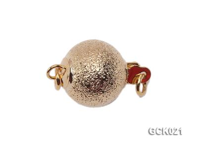 10mm Single-strand Frosted Gilded Ball Clasp GCK021 Image 1