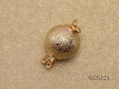 10mm Single-strand Frosted Gilded Ball Clasp GCK021 Image 2