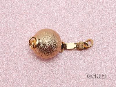 10mm Single-strand Frosted Gilded Ball Clasp GCK021 Image 3
