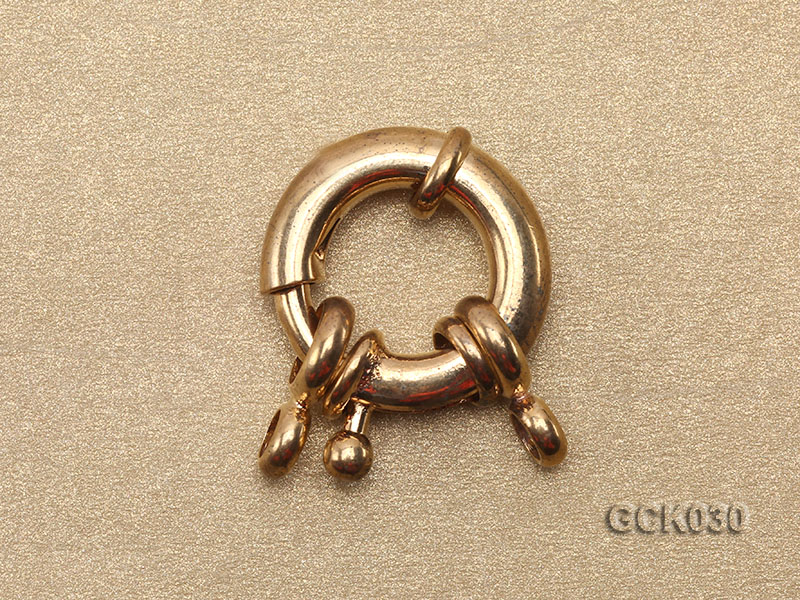 15.5mm Single-strand Gilded Clasp big Image 2
