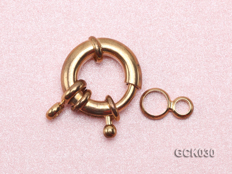 15.5mm Single-strand Gilded Clasp big Image 3