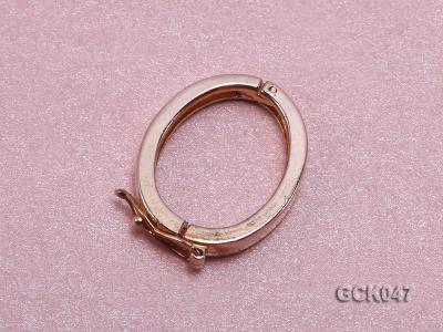 18x22mm Single-strand Gilded Clasp GCK047 Image 2