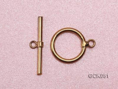 15x25mm Single-strand Gilded Toggle Clasp GCK051 Image 2