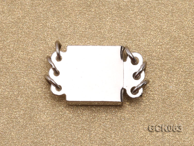 8.5mm Three-strand Square White Gilded Clasp  big Image 2