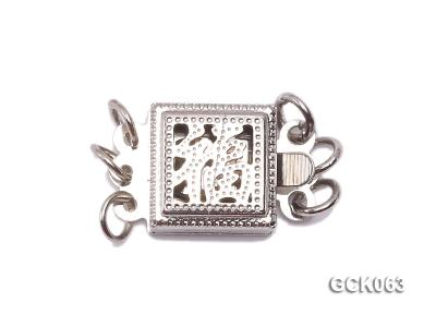 8.5mm Three-strand Square White Gilded Clasp  GCK063 Image 1