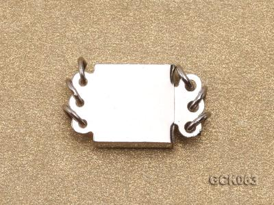 8.5mm Three-strand Square White Gilded Clasp  GCK063 Image 2