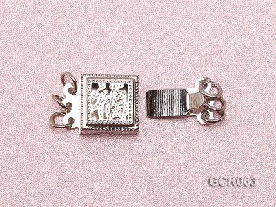 8.5mm Three-strand Square White Gilded Clasp  GCK063 Image 3