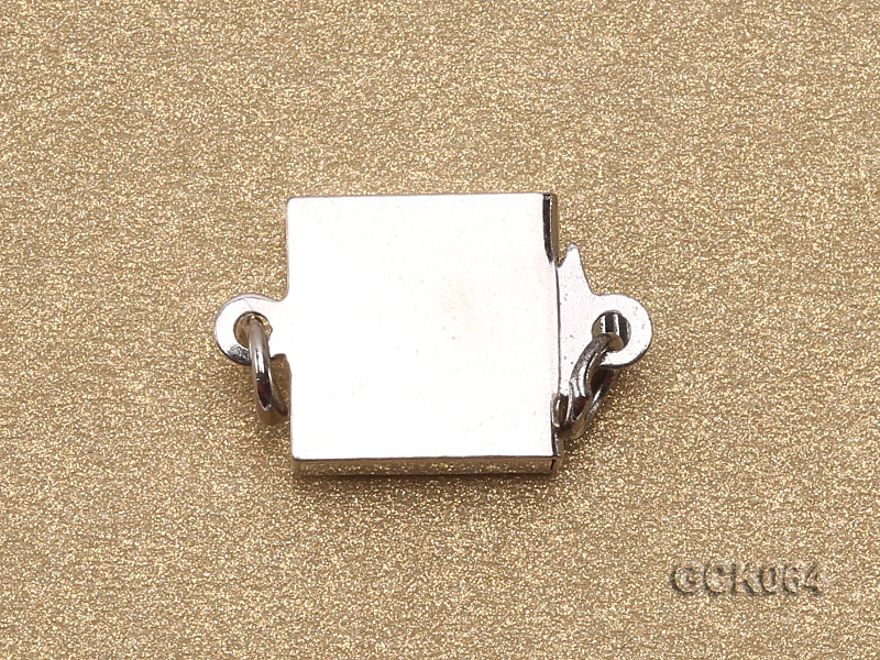 8.5mm Single-strand Square White Gilded Clasp  big Image 2