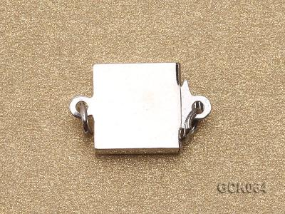 8.5mm Single-strand Square White Gilded Clasp  GCK064 Image 2