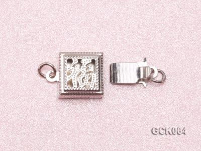 8.5mm Single-strand Square White Gilded Clasp  GCK064 Image 3