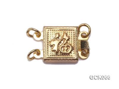 8.5mm Double-strand Square Golden Gilded Clasp  GCK066 Image 1