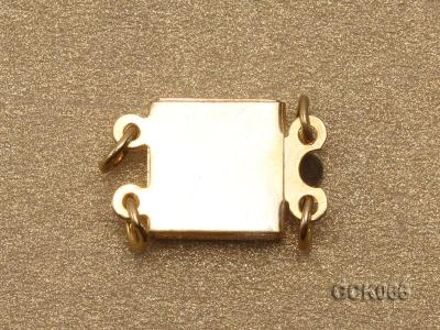 8.5mm Double-strand Square Golden Gilded Clasp  GCK066 Image 2