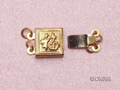 8.5mm Double-strand Square Golden Gilded Clasp  GCK066 Image 3