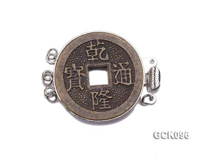 25mm Three-strand Gilded Clasp Inlaid with Imitation Copper Coin GCK096 Image 1