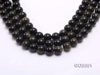 Wholesale High-quality 14mm Round Obsidian String GOB001