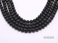 Wholesale High-quality 10mm Round Obsidian String GOB003