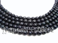 wholesale 8mm round anfibio obsidian semi-finished products GOB004