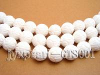 wholesale 14mm round carve tridacna semi-finished products GTS001