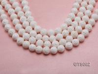 Wholesale 12mm Round Carved Tridacna String GTS002