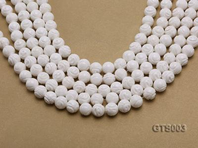 Wholesale 10mm Round Carved Tridacna String GTS003 Image 1