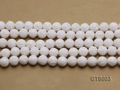 Wholesale 10mm Round Carved Tridacna String GTS003 Image 2