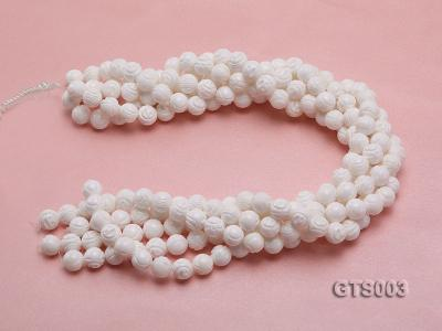Wholesale 10mm Round Carved Tridacna String GTS003 Image 3