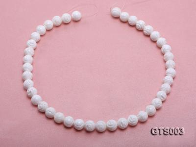 Wholesale 10mm Round Carved Tridacna String GTS003 Image 4
