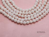 Wholesale 8mm Round Carved Tridacna String GTS004