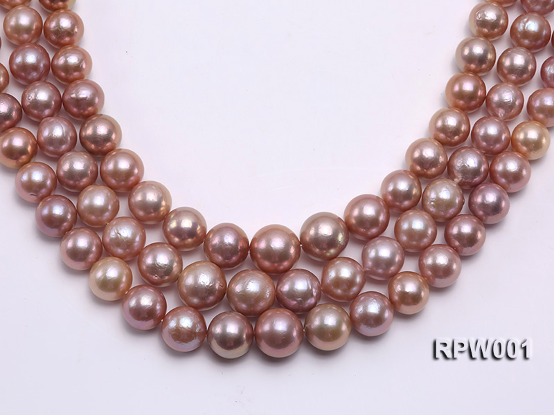 Selected AAA 13-16mm Natural Round Edison Pearl loose String big Image 1