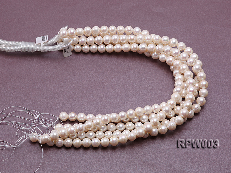 Wholesale 10-11mm Classic White Round Freshwater Pearl String big Image 3