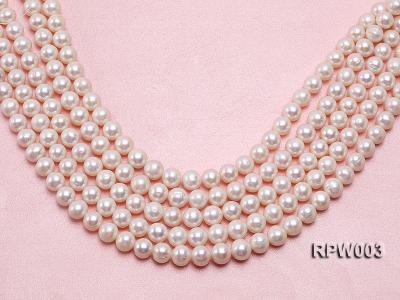Wholesale 10-11mm Classic White Round Freshwater Pearl String RPW003 Image 1