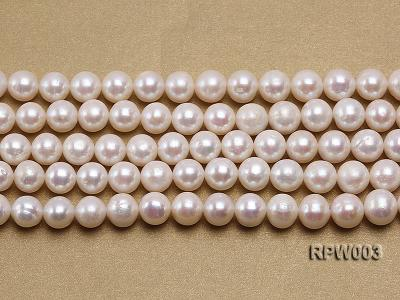 Wholesale 10-11mm Classic White Round Freshwater Pearl String RPW003 Image 2