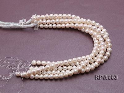Wholesale 10-11mm Classic White Round Freshwater Pearl String RPW003 Image 3