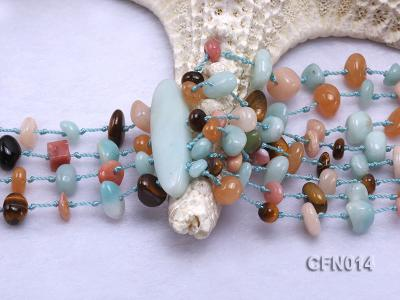 6-10mm Eight-Row Colorful Gemstone Necklace CFN014 Image 3