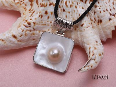 30mm mabe pearl pendant edged with sterling silver  MP021 Image 3