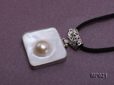 30mm mabe pearl pendant edged with sterling silver  MP021 Image 4