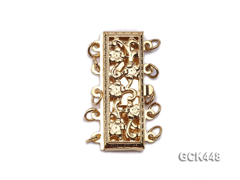 High quality 14k gold plated jewelry clasp with zircon big Image 1