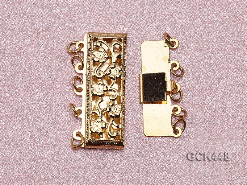 High quality 14k gold plated jewelry clasp with zircon big Image 3