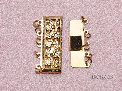 High quality 14k gold plated jewelry clasp with zircon GCK448 Image 3