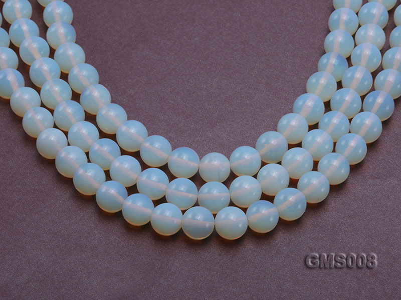 Wholesale 12mm Cream Round Moonstone String big Image 1