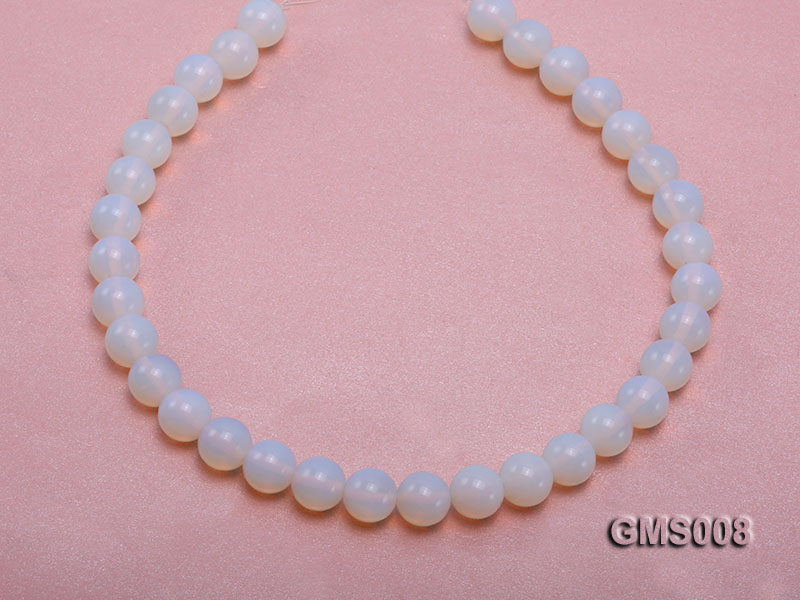 Wholesale 12mm Cream Round Moonstone String big Image 4