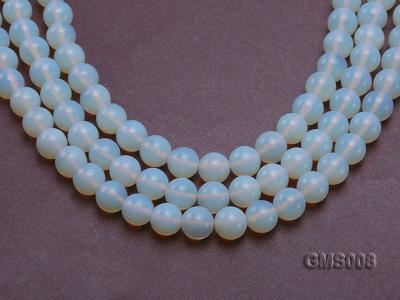 Wholesale 12mm Cream Round Moonstone String GMS008 Image 1