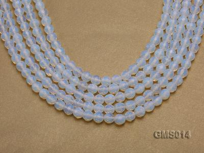 Wholesale 8mm Cream Round Moonstone String GMS014 Image 1