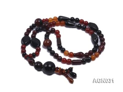8.5mm multicolor and several shapes agate necklace AGN031 Image 3