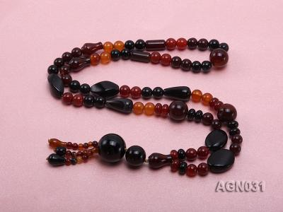 8.5mm multicolor and several shapes agate necklace AGN031 Image 4