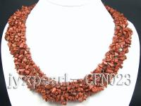 5-12mm golden chips semi-precious necklace CFN023