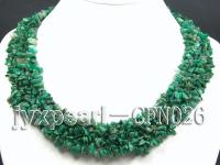 5-12mm Green Gemstone Chips Necklace CFN026