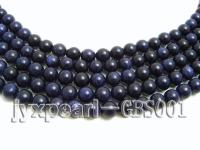wholesale 8mm round Blue Sand Stone strings GBS001