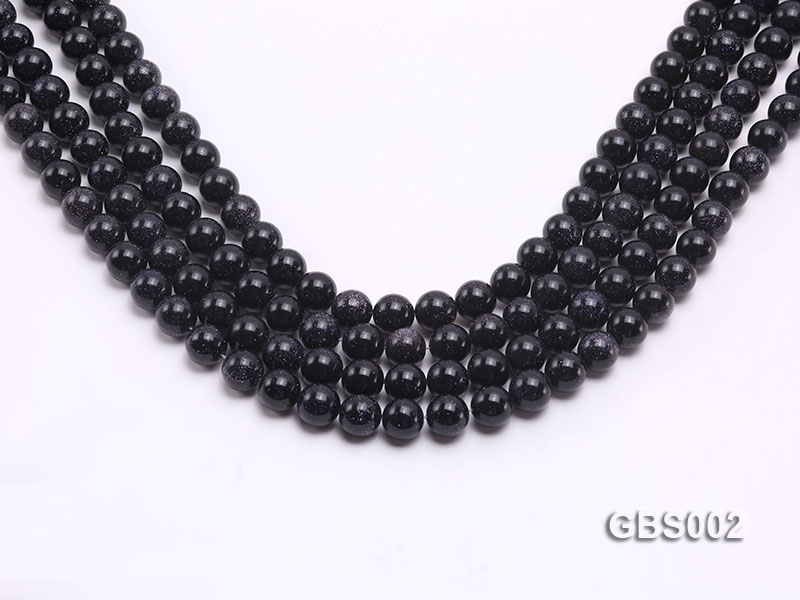 wholesale 10mm faceted round Blue Sandstone strings big Image 1